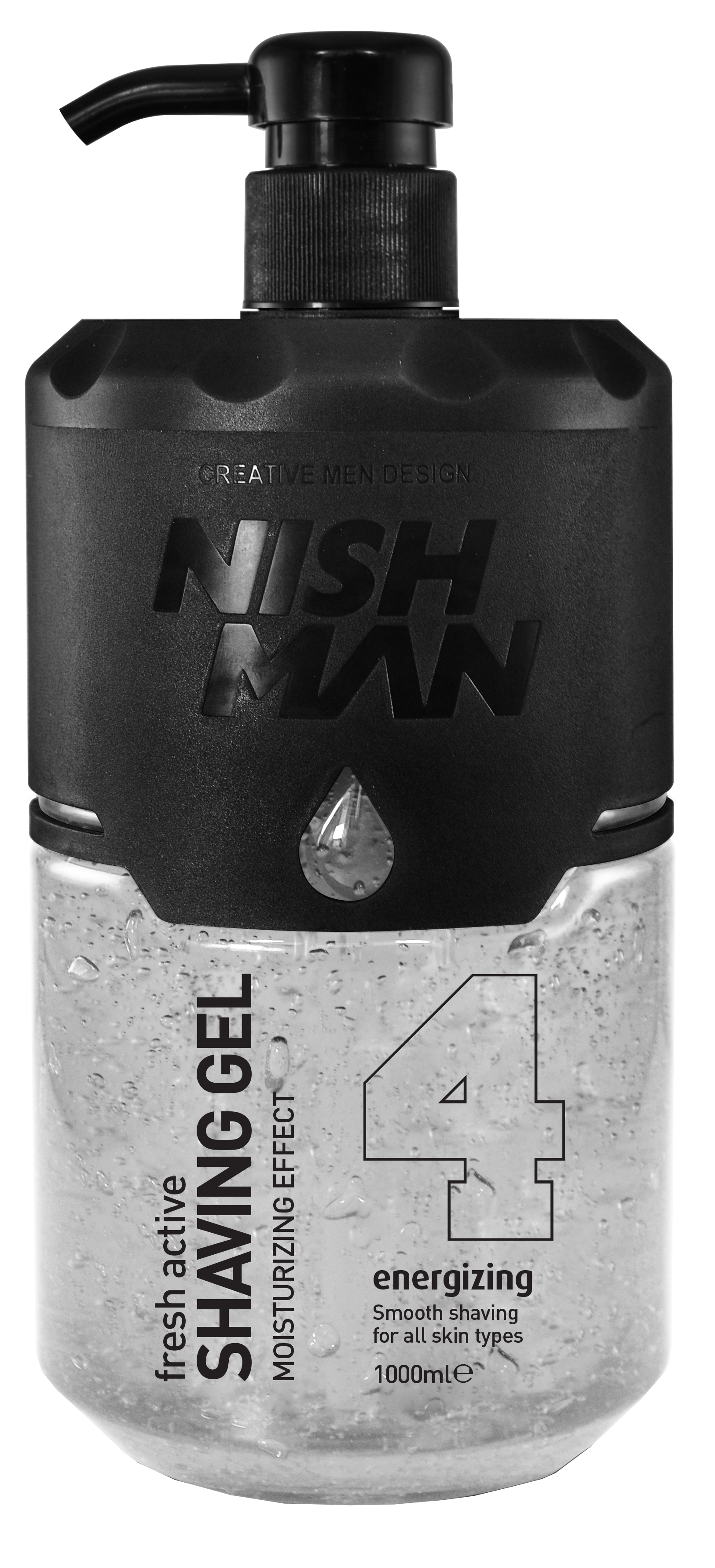 Nishman Shaving Gel 04 - priesvitný gél na holenie, 1000 ml