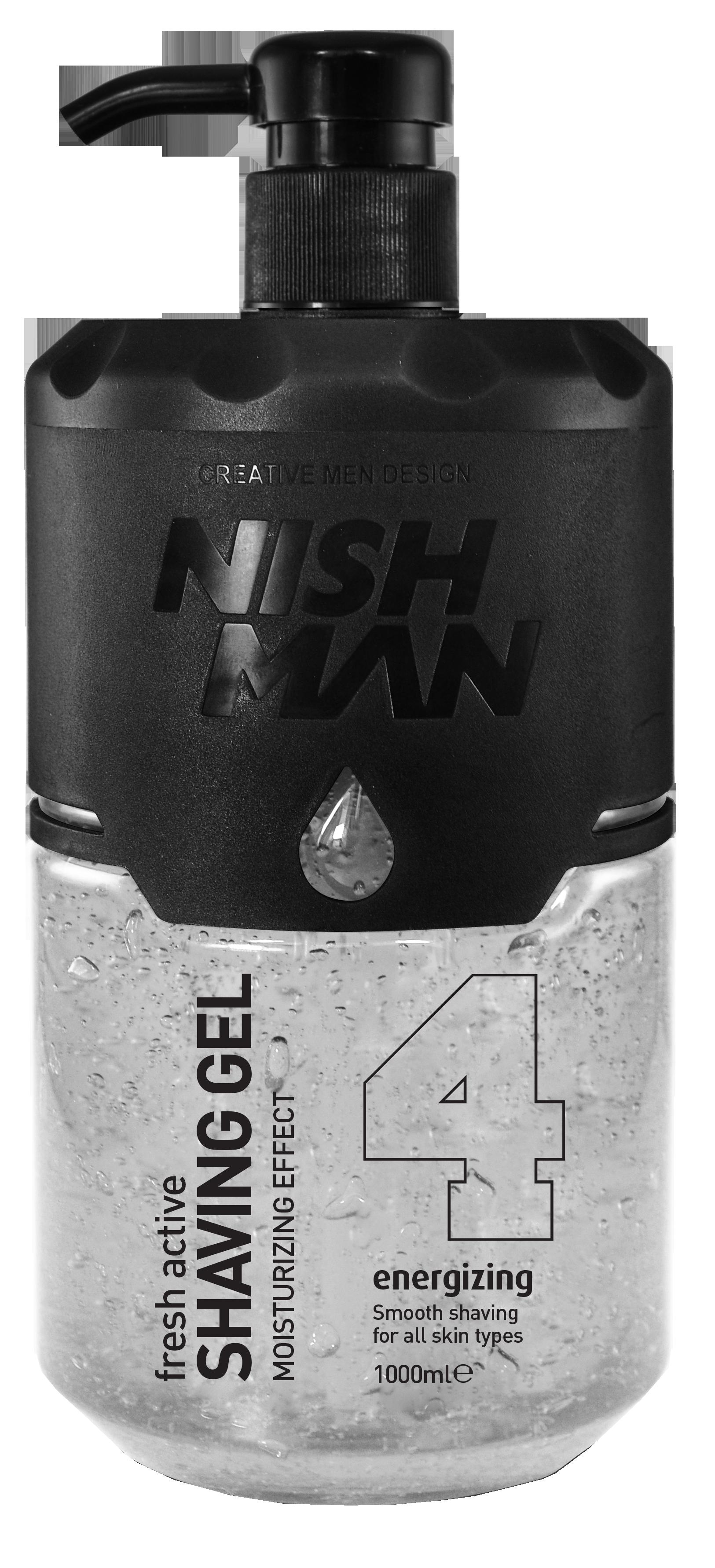 Nishman Shaving Gel 04 - průsvitný gel na holení, 1000 ml