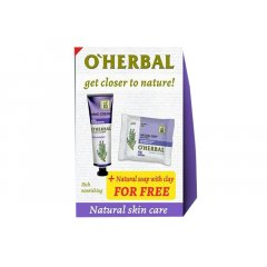 O'Herbal Lavender set 1 + 1 - krém na ruce bohatá výživa, 30 ml + mýdlo Levandule, 100 g