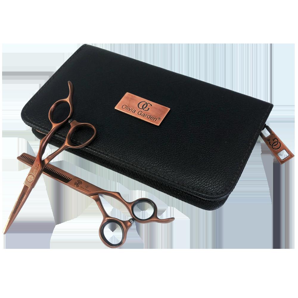 Olivia Garden SilkCut PRO Copper Edition - set profi kadeřnických nůžek