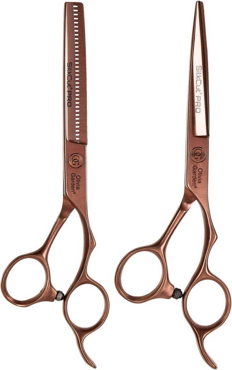 Olivia Garden SilkCut PRO Copper Edition - set profi kaderníckych nožníc