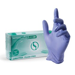 SEMPERCARE NITRIL ALOE - bezpúdrové nitrilové rukavice s aloe vera, 200 ks/bal
