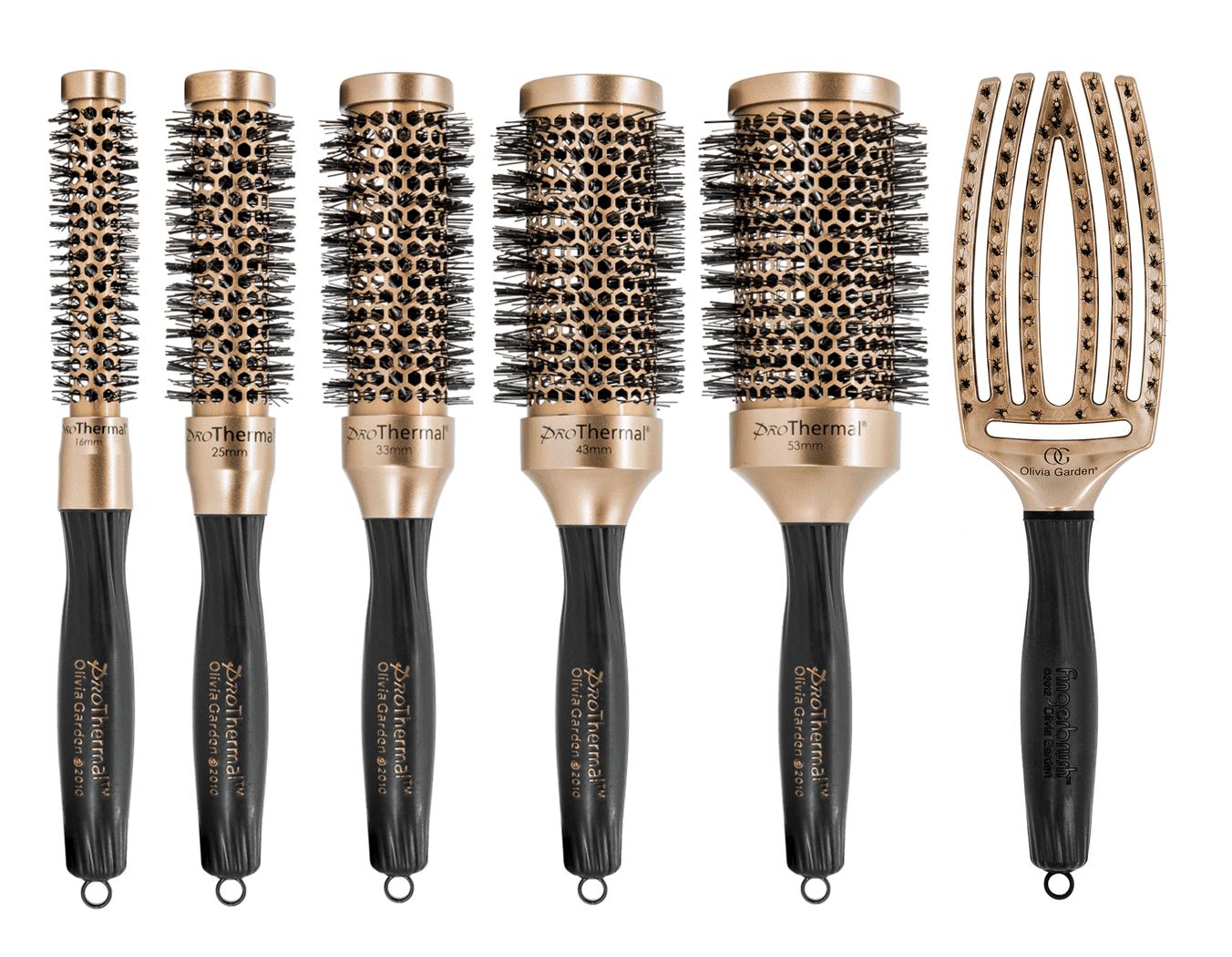Olivia Garden Pro Thermal Copper Limited - antistatické kefy na fúkanie vlasov