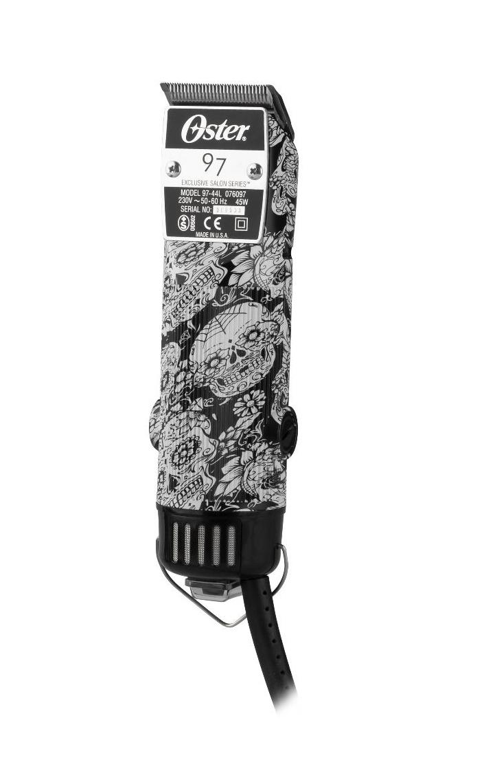 Oster 97-44 Limited edition - profesionálny strojček na vlasy s lebkami, výkon 45W + Gembird - stlačený vzduch, 400 ml