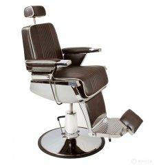 Barber kreslo GRECO - hnedo-čierne lesklé