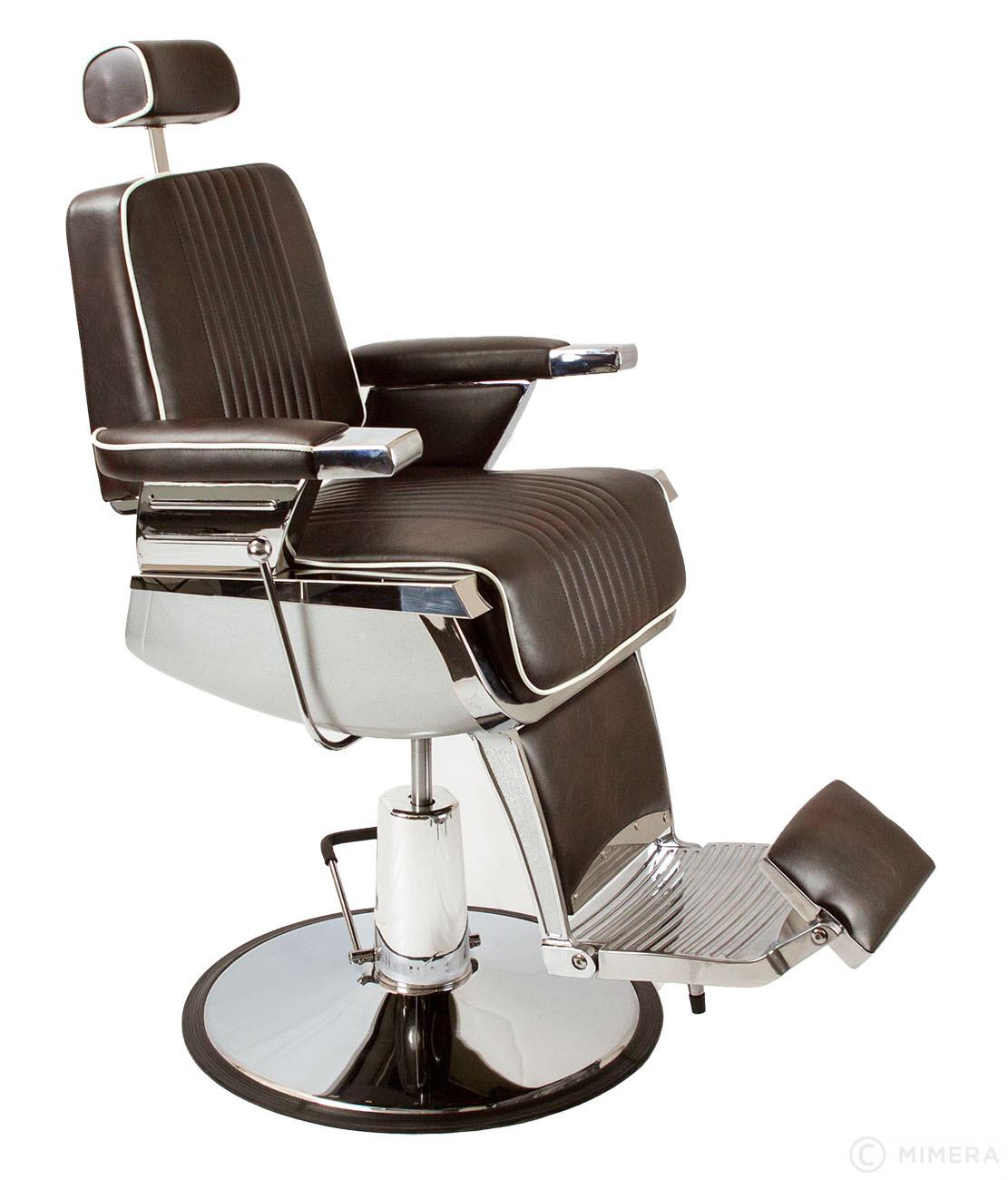 Barber křeslo GRECO - hnědo-černé lesklé