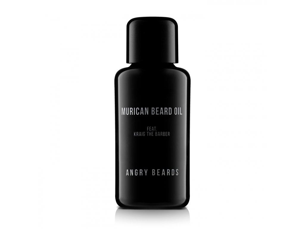 Angry Beards - Murican Beard Oil - olej na bradu a fúzy, 30ml