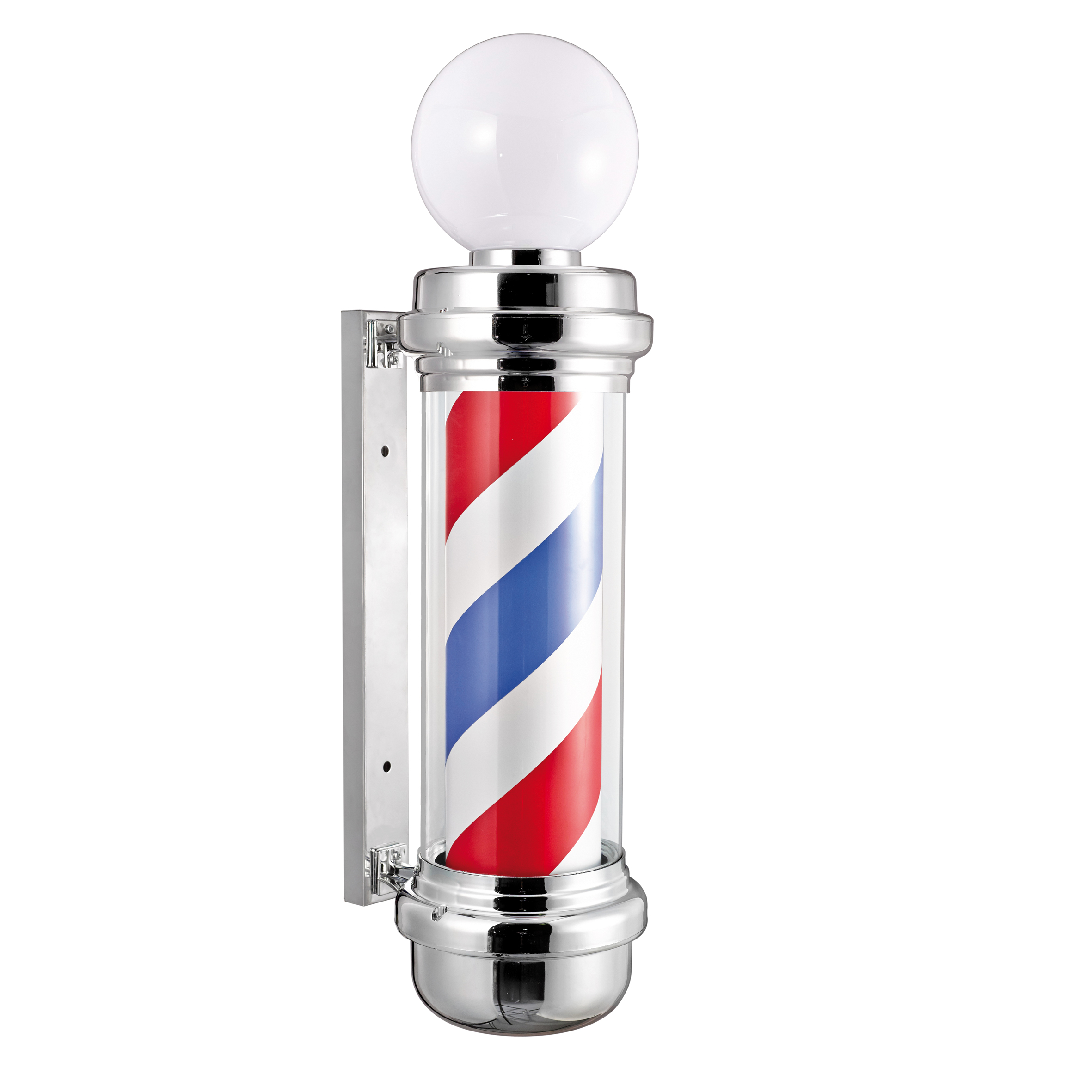 Eurostil Sphere Chrome Barber Pole 04744 - svetelný barber stĺpik