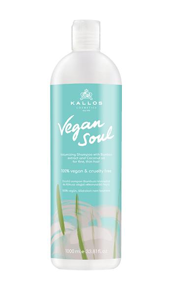 Kallos vegani SOUL volumizing shampoo - jemný a lehký objemový šampon na vlasy, 100% vegan, 1000 ml