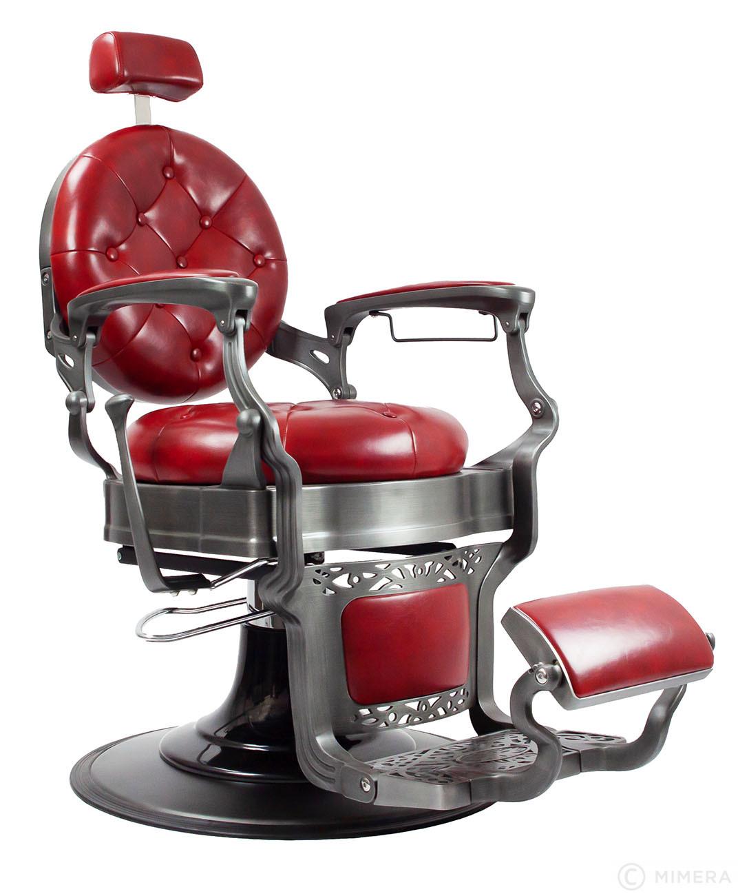 Retro Barber křeslo MONET - lesklé červené
