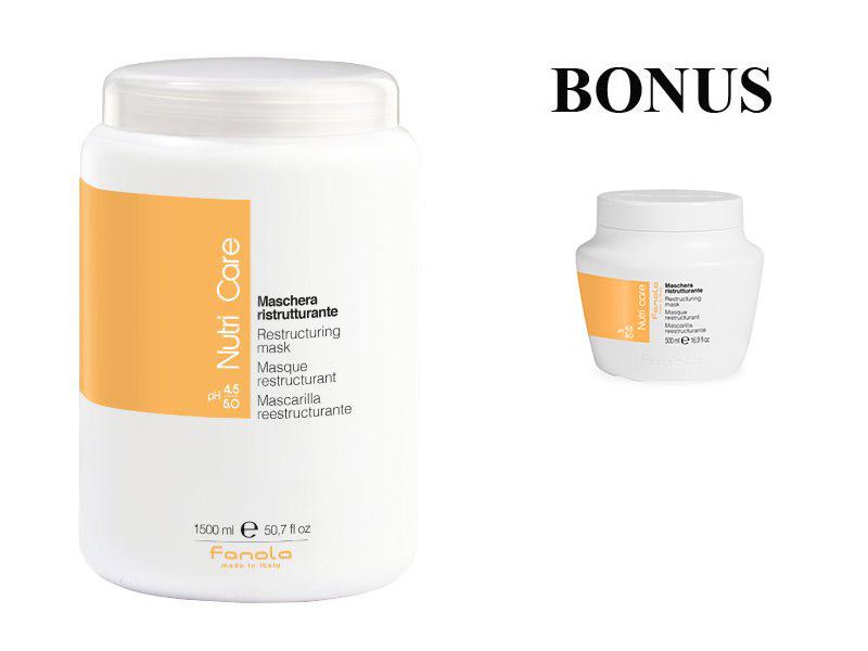AKCIA: Fanola Nutri care - hydratačná a výživná maska na vlasy, 1500 ml + maska Nutri care 500 ml