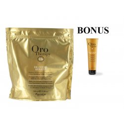 AKCIA: Fanola Oro Therapy De-color KERATIN - melírovací prášok s keratínom a argánovým olejom, 500 g + Fanola Oro Therapy - krém na ruky, 100 ml