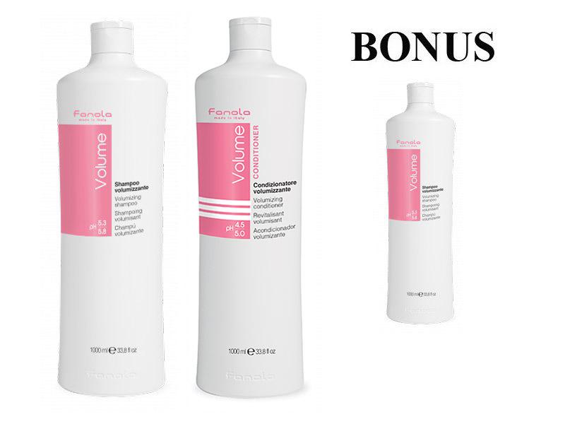 AKCIA: Fanola Volume - objemový šampón, 1000 ml + Fanola Volume - objemový kondicionér, 1000 ml + Fanola Volume - objemový šampón, 1000ml