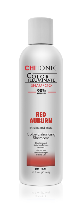CHI Ionic Color Illuminate Shampoo Red Auburn - čistiaci šampón s červenými pigmentami, 355 ml