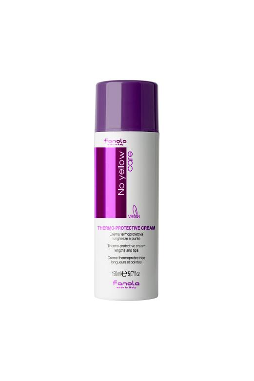 Fanola No Yellow Thermo-protective Cream - termoochranný krém na vlasy, 150 ml