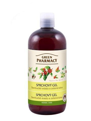 Green Pharmacy bambucké máslo a zelená káva - sprchový gel, 500ml