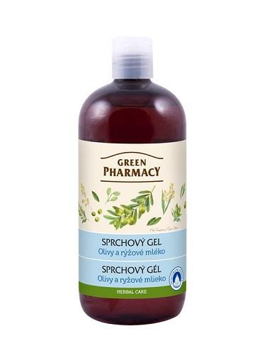 Green Pharmacy olivy a ryžové mlieko - sprchový gél, 500ml