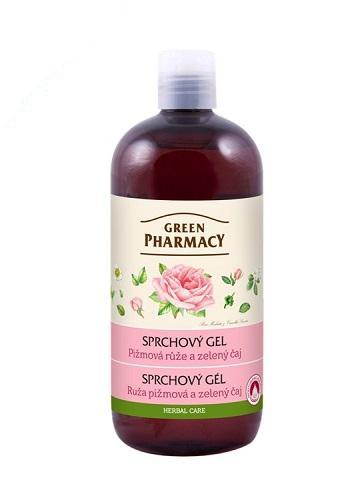Green Pharmacy pižmová růže a zelený čaj - sprchový gel, 500ml