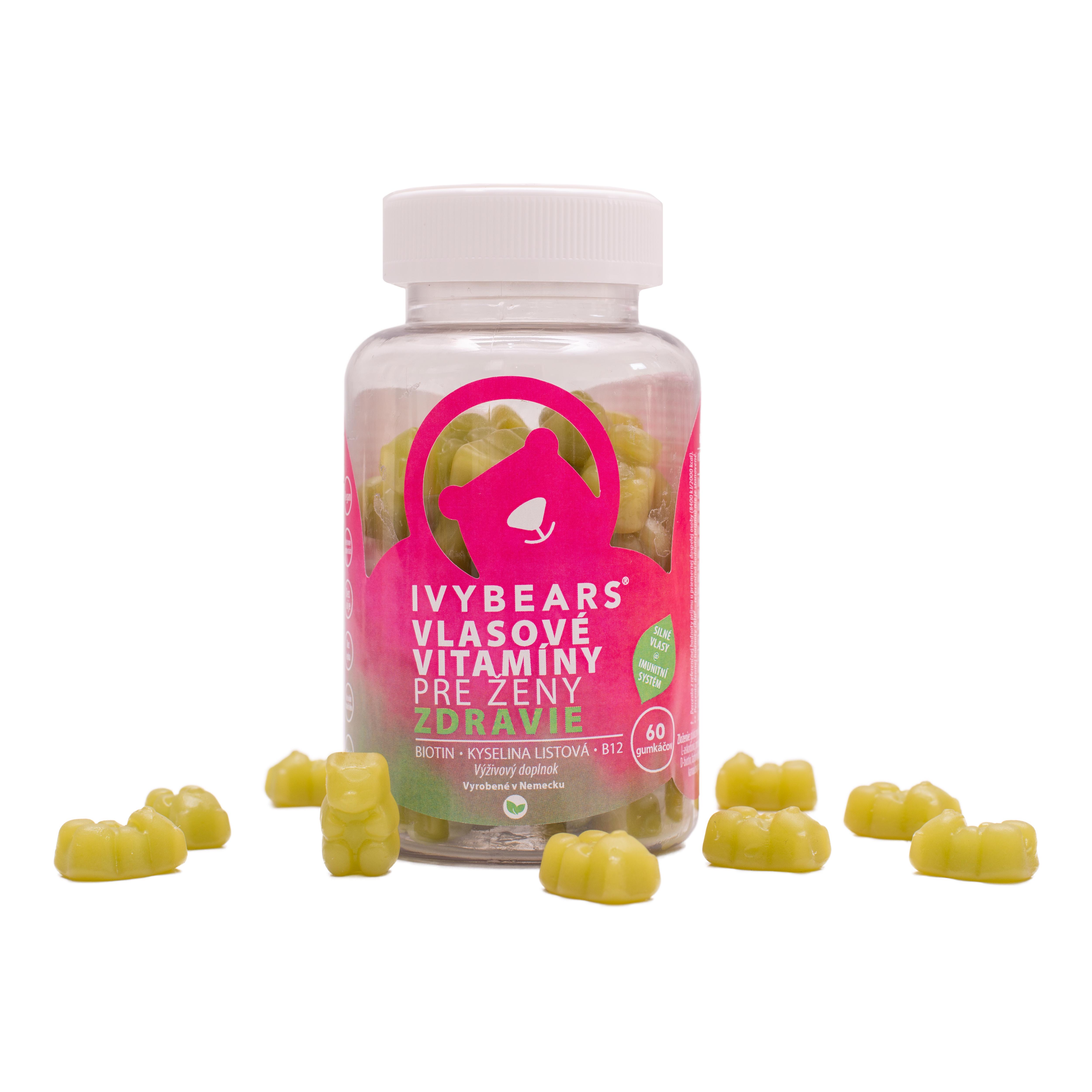 (EXP: 06/2021) IVY Bears - vlasové vitamíny pre ženy s podporou imunity, 60 ks
