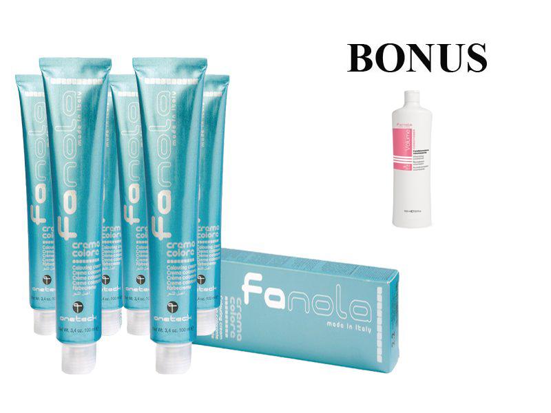 AKCIA: 10 ks Fanola prof. farba na vlasy + Volume kondicionér 1000 ml