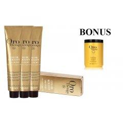 AKCIA: 15 ks Fanola Oro puro - profesionálna bezamoniaková farba na vlasy, 100 ml + maska Oro Puro, 1000 ml