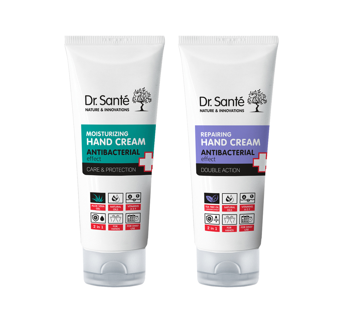 Dr. Santé Hand Cream Antibacterial - krém na ruce s antibakteriálním účinkem, 75 ml