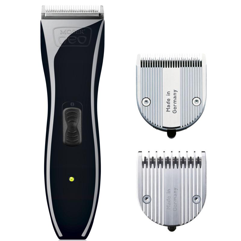 MOSER Neo 1886-0052 - profesionálny akumulátorový strojček na vlasy, čierny + Gembird - stlačený vzduch, 400 ml
