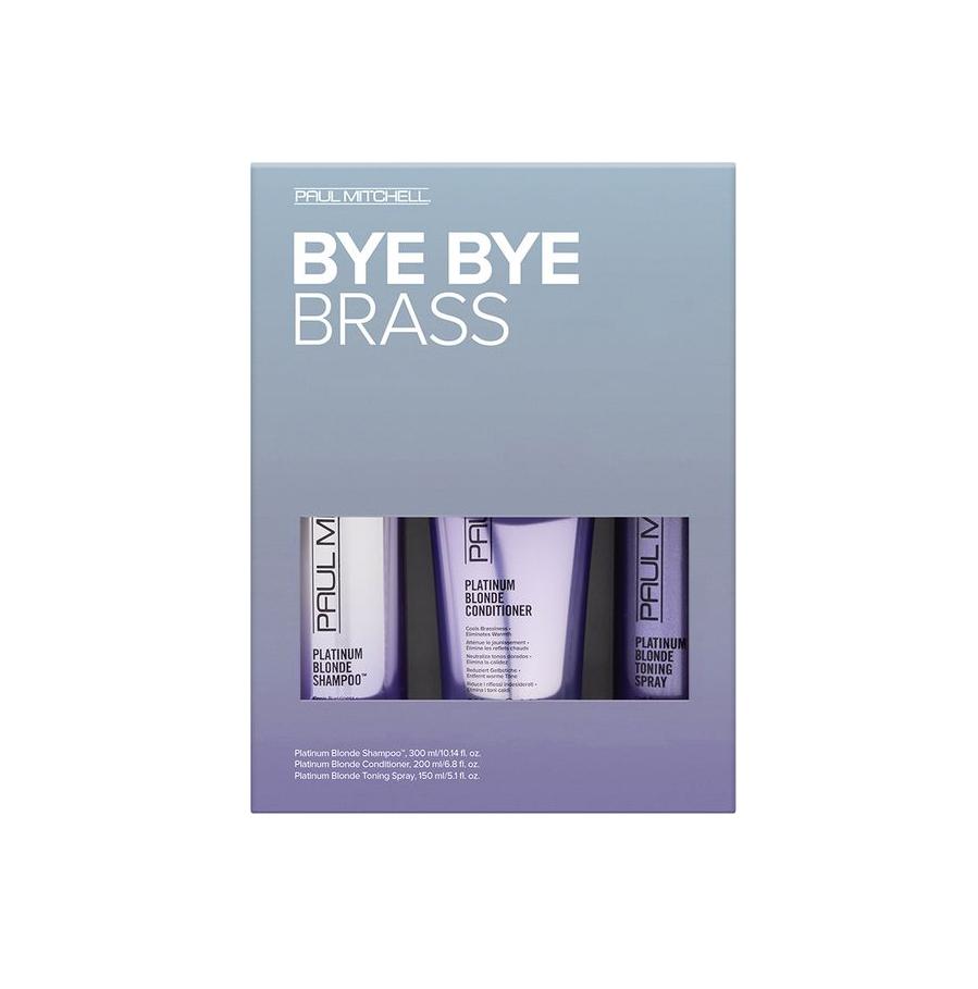 Paul Mitchell Platinum Blonde Bye Bye Brass Kit - sada pro blond a šedivé vlasy