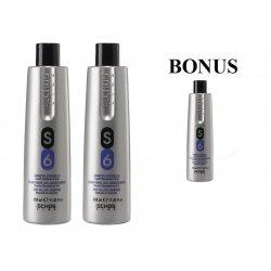 AKCE: 2x Echosline S6 šampon proti žloutnutí vlasů, 350 ml + S6 šampon, 350 ml