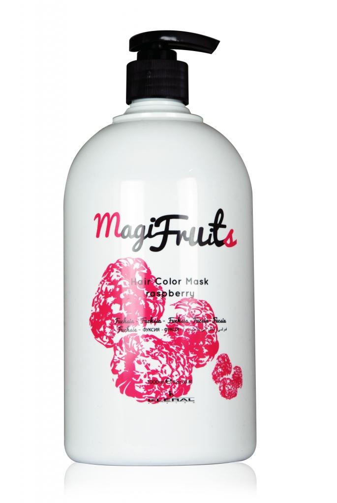 Kléral MagiFruits Hair Mask Raspberry - farbiaca vyživujúca maska, 1000 ml