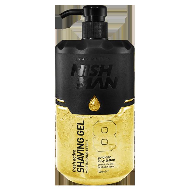 Nishman Shaving Gel 08 - žlutý gel na holení, 1000 ml