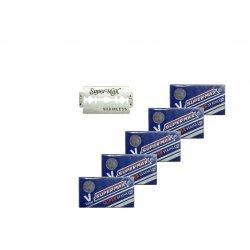 Supermax Super Stainless 02308 - náhradní žiletky, 10 ks