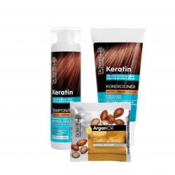 AKCIA: Dr. Santé Gift Pack 2+1 Keratin - šampón, 250 ml + kondicionér, 200 ml + mydlo, 100 g