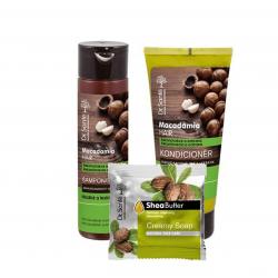 AKCE: Dr. Santé Gift Pack 2 + 1 Macadamia - šampon, 250 ml + kondicionér, 200 ml + mýdlo, 100 g