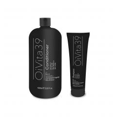 AKCIA: OiVita 39 Antigiallo Conditioner - kondicionér na šedivé, zosvetlené a odfarbované vlasy, 1000 ml + OiVita 39 Antigiallo Shampoo, 250 ml
