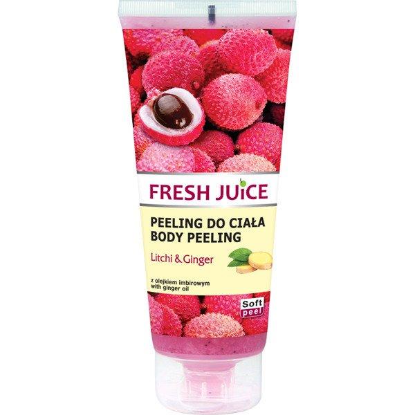 Fresh Juice Body Peeling Litchi & Ginger - telový peeling liči a zázvor, 200 ml