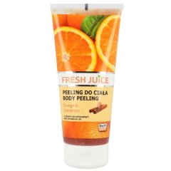 Fresh Juice Body Peeling Orange & Cinnamon - tělový peeling pomeranč a skořice, 200 ml