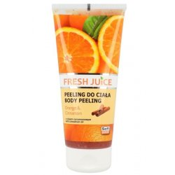 Fresh Juice Body Peeling Orange & Cinnamon - telový peeling pomaranč a škorica, 200 ml