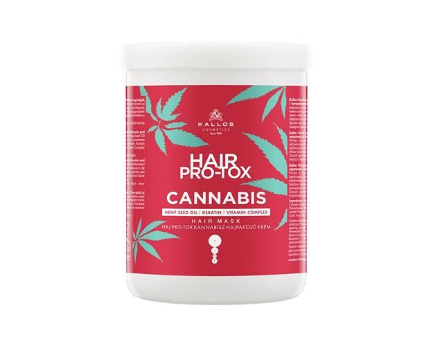 Kallos PRO-TOX Cannabis Hair Mask - maska na vlasy s konopným olejem, 1000 ml