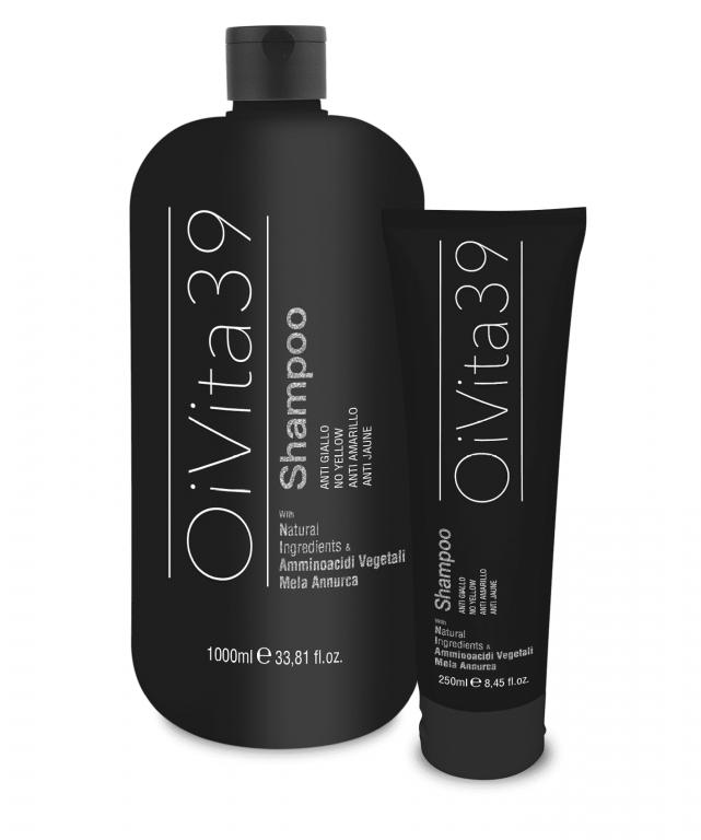 OiVita 39 Antigiallo Shampoo - šampón na šedivé, zosvetlené a odfarbované vlasy