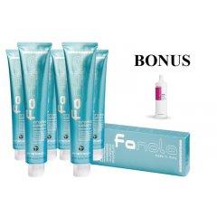 AKCIA: 10 ks Fanola prof. farba na vlasy + After colour šampón, 1000 ml