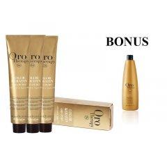 AKCIA: 12 ks Fanola Oro puro - profesionálna bezamoniaková farba na vlasy, 100 ml + Oro Therapy Oro Puro šampón, 1000 ml