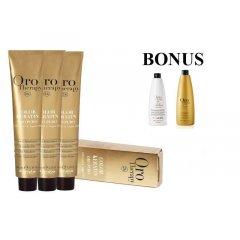 AKCIA: 20 ks Fanola Oro Puro prof. farba na vlasy  + oxidant 20 vol 6%, 1000 ml + Oro Puro šampón, 1000 ml