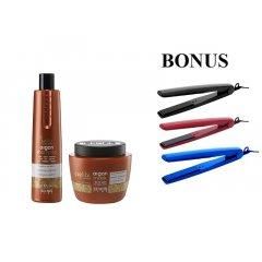 AKCIA: Echosline Seliár Argan šampón, 350 ml a Echosline Seliár Argan Mask - maska, 500 ml + žehlička na vlasy