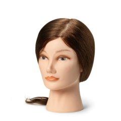 BEZ OBALU: BraveHead Female medium 9860 - cvičná hlava, 100% lidské vlasy, 35 - 40 cm