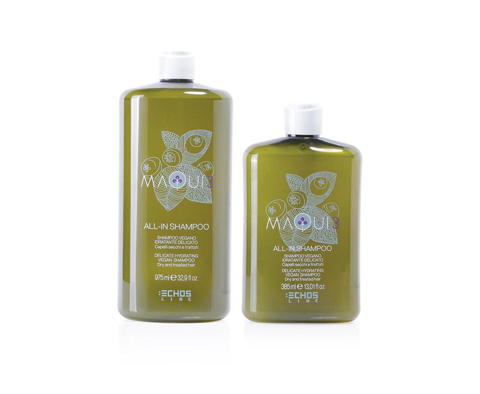 Echosline Maqui 3 All-in Shampoo - hydratační šampon pro suché a poškozené vlasy