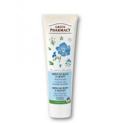 Green Pharmacy - krém na ruce a nehty heřmánek a lněný olej, 100 ml