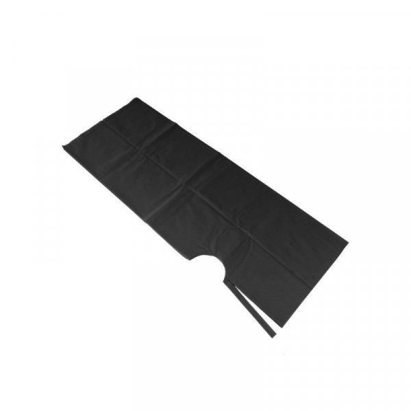 Jednorázová pláštenka z vlákniny F/024-1/025FCZ - čierna  farba, 25 ks