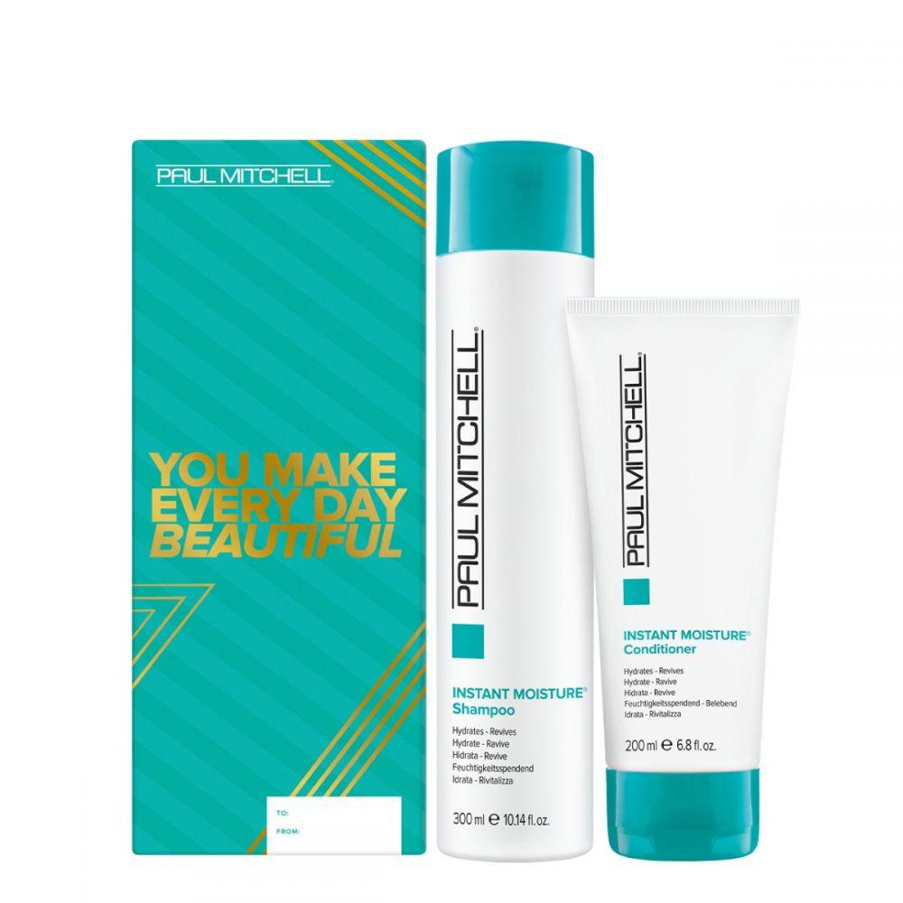 Paul Mitchell Instant Moisture Duo - hydratační šampon, 300ml + hydratační kondicionér, 300ml