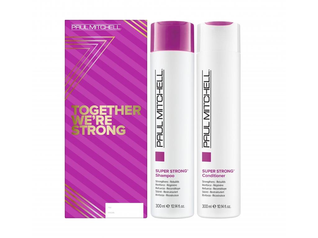 Paul Mitchell Super Strong Duo - posilující šampon, 300ml + posilující kondicionér, 300ml
